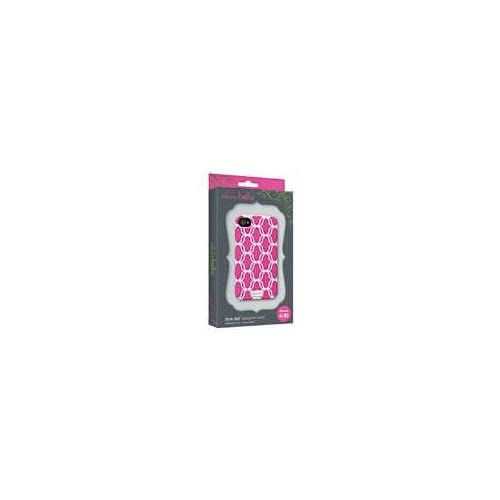 Clairebella Elibrium 365 Case For iPhone 4/4S Hot Pink Lattice Cover
