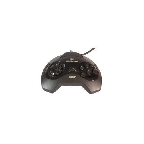 Control Pad For Sega Saturn Vintage Black Gamepad MK-80100