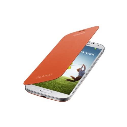Samsung Galaxy S4 Flip Cover Folio Case Orange