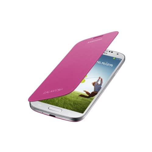 Samsung Galaxy S4 Flip Cover Folio Case Pink Fitted EF-F1950BPESTA