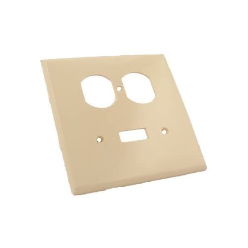 Leviton PJ18-T 2-GANG 1-TOGGLE 1-DUPLEX Combination Wallplate Midway