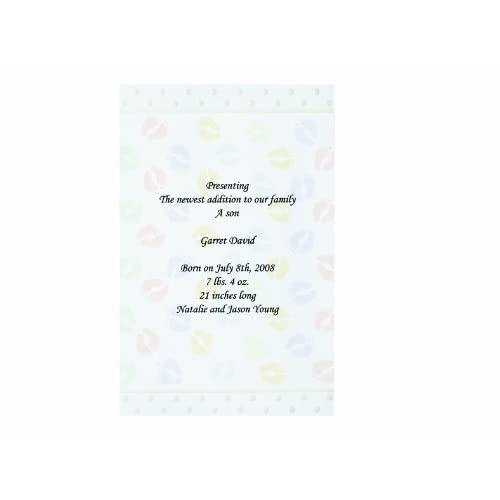 Wilton 12-Pack Baby Footprints Invitation
