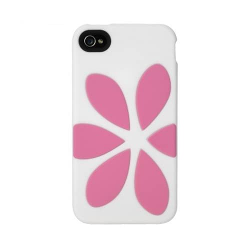 AGENT18 Gipfvx/wc Flowervest Tpu Skin Case For iPhone 4/4S 1 Pack White/pink Cov