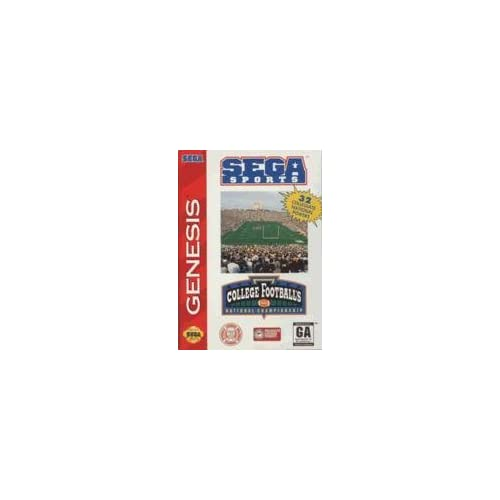 College Football's National Championship For Sega Genesis Vintage With Manual An