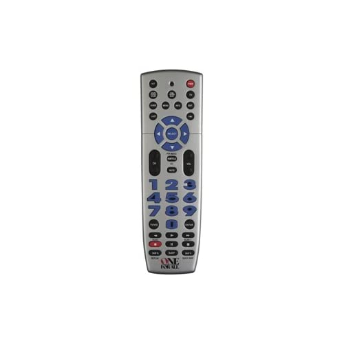 Image 0 of Big Easy 3-DEVICE Universal Remote Silver Infrared URC-3220