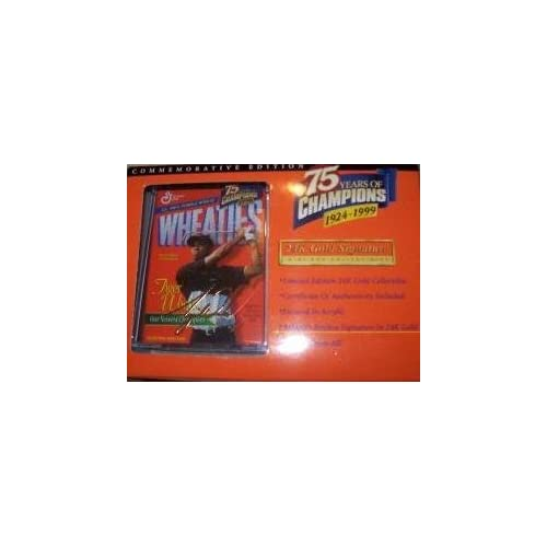 Image 0 of Mini Wheaties Box 75 Years Of Champions 24K Signature Tiger Woods