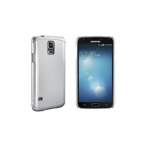 Image 3 of Dynex Case For Samsung Galaxy S 5 Cell Phones Brushed Silver Cover