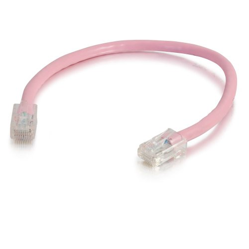 00619 CAT5E Non-Booted Patch Cable Pink 3 FEET/0.91 Meters