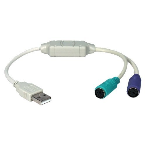 Image 0 of QVS USB-PS2YB 1' USB To PS2 Keyboard & Mouse Adapter Cable