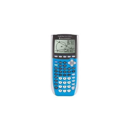 Image 0 of Texas Instruments TI-84 Plus Silver Edition Graphing Calculator Blue TI-84PLUSSI