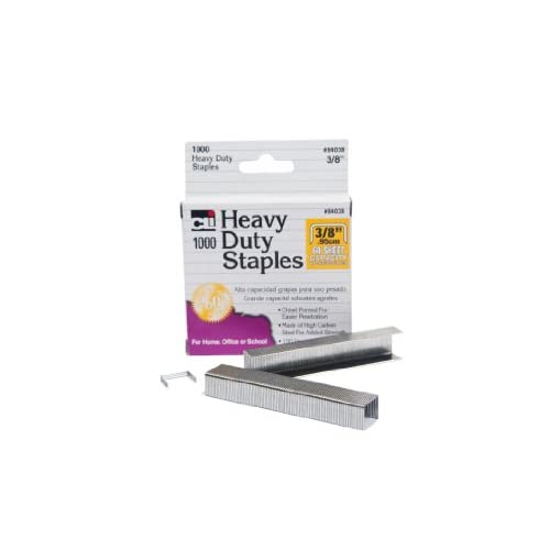 Charles Leonard Inc Staples Heavy Duty 3/8 Inches Leg Length Carbon