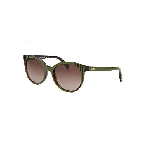 Fendi FS5344 Sunglasses Havana/Green w/Brown Gradient 215 5344 215 5