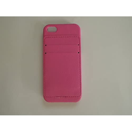Image 0 of iPhone 5 5S SE Harshell Case Pink Faux Leather Cover