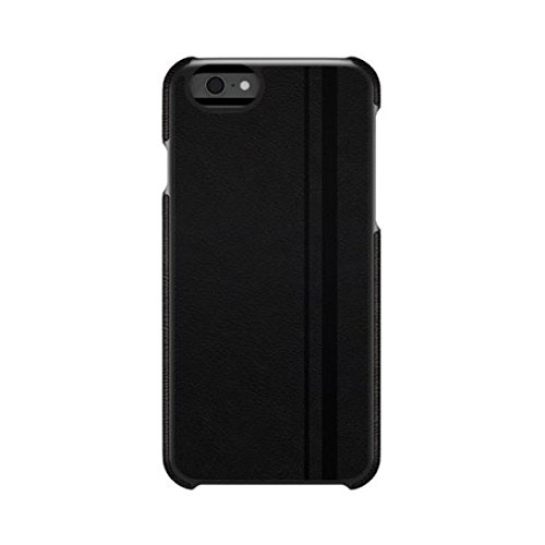 AGENT18 iPhone 6 Racing Stripe Black Vegan Leather Case Cover Fitted A112SI-349