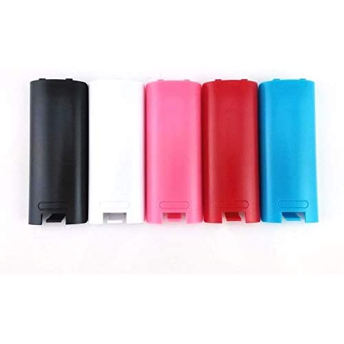 Image 0 of Replacement Battery Cover For Nintendo Wii Remote X 5 Black Blue Pink Red White