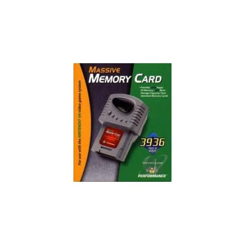 Image 0 of Interact 32X Massive Memory Card Nintendo 64 For N64 Expansion Gray Grey