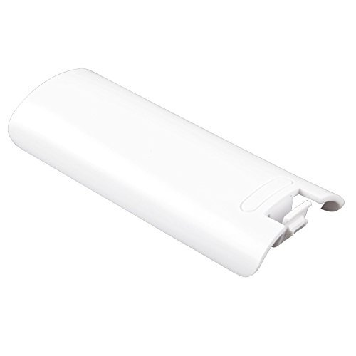 Image 3 of Dual Pack 2X Pieces White Remote Battery Cover Protective For Wii