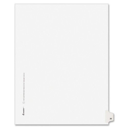 Image 0 of Avery Legal Dividers Premium Individual Tab Titles Letter Size Side Tabs #25 Pac