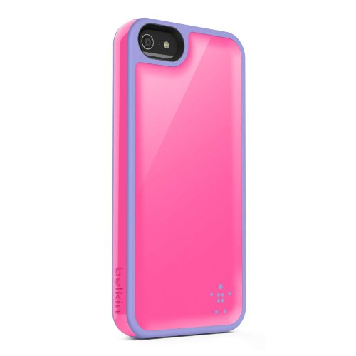 Image 0 of Belkin Grip Max Case Cover For iPhone 5 5S SE Pink / Lavender Fitted