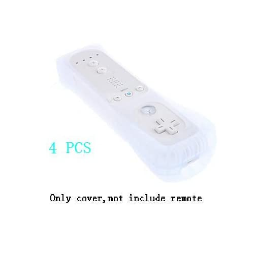 4X Silicone Skin Case Cover For Nintendo Wii Remote Controller