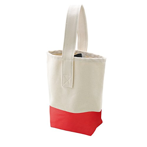 Cathy's Concepts Color Dipped Canvas Wine Tote Red Shoe