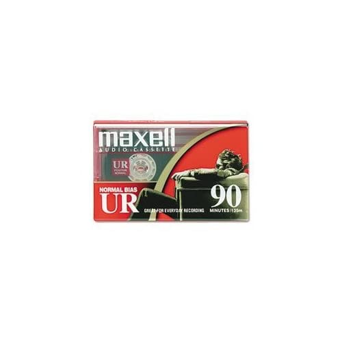 Maxell 108510 Normal-Bias Cassette Tapes Single Blank Tape