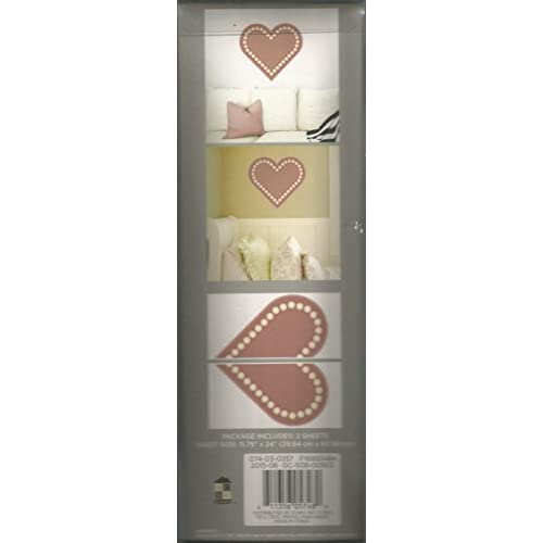 Image 2 of Heart Wall Decals Self-Adhesive Wall Decor
