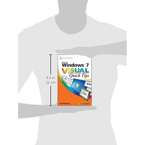 Image 2 of Windows 7 Visual Quick Tips By Mcfedries Paul Paperback Book