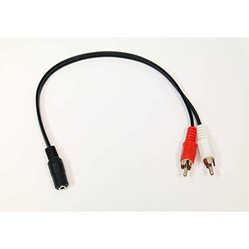 3.5MM Female Jack To 2 RCA Male Plug Audio Y Splitter Cable A/v Xbox 360
