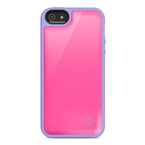 Image 2 of Belkin Grip Max Case Cover For iPhone 5 5S SE Pink / Lavender Fitted