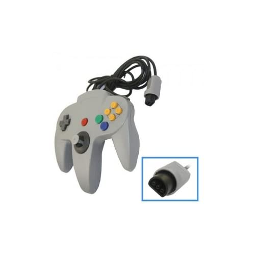 Image 0 of Grey Long Controller Game For Nintendo For N64 Gray
