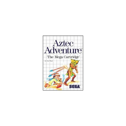 Aztec Adventure For Sega Master Vintage With Manual and Case