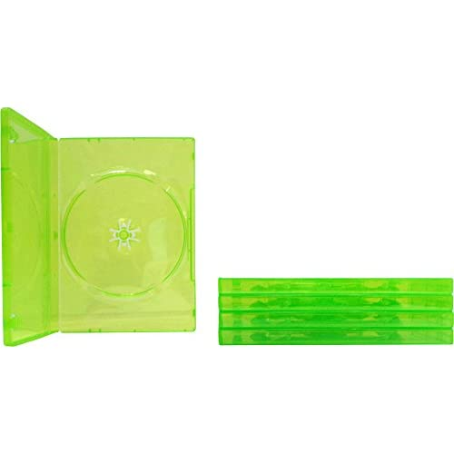 5 Empty Standard Xbox 360 Translucent Green Replacement Games Boxes / Cases