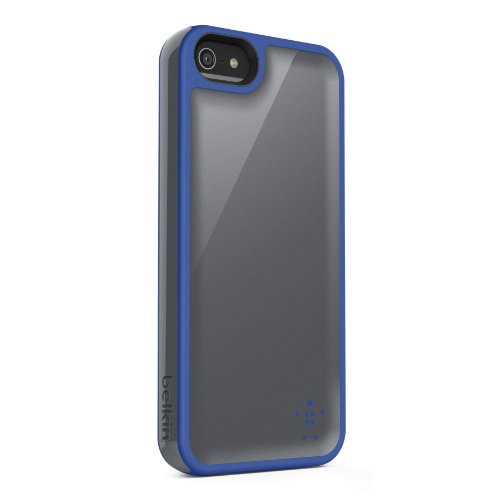 Belkin Grip Max Case Cover For iPhone 5 5S SE Gray / Blue