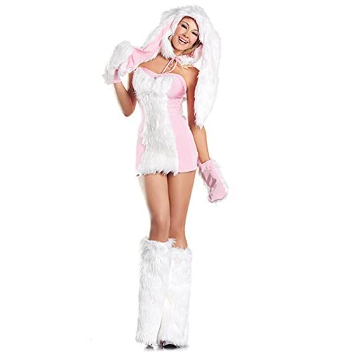 Be Wicked Costumes Women's Blushing Bunny Costume Pink/White Medium
