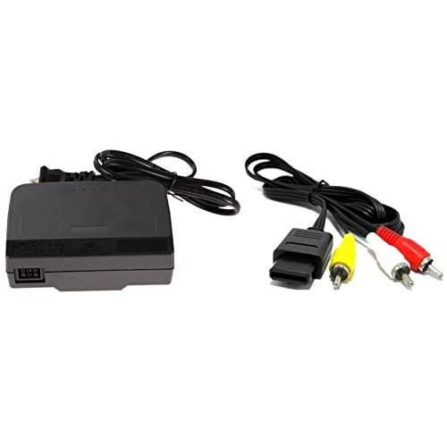 AC Adapter Power Supply And AV Cable Cord For Nintendo For N64