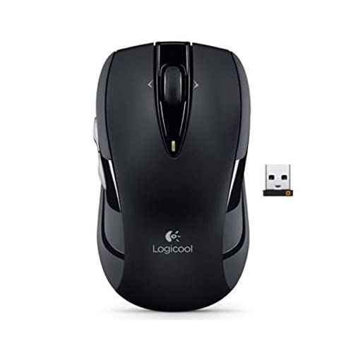 Image 0 of Logitech M545 Wireless Mouse Dual Axis USB Pico Receiver 2 Thumb Buttons Black