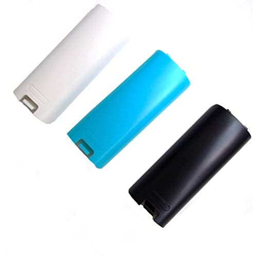 Image 0 of Replacement Battery Cover For Nintendo Wii Remote X 3 Black Blue And White