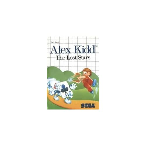Alex Kidd: The Lost Stars For Sega Master Vintage With Manual and Case