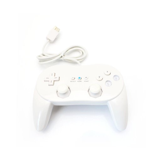 Image 0 of Wired Classic Pro Controller Joypad For White For Wii And Wii U