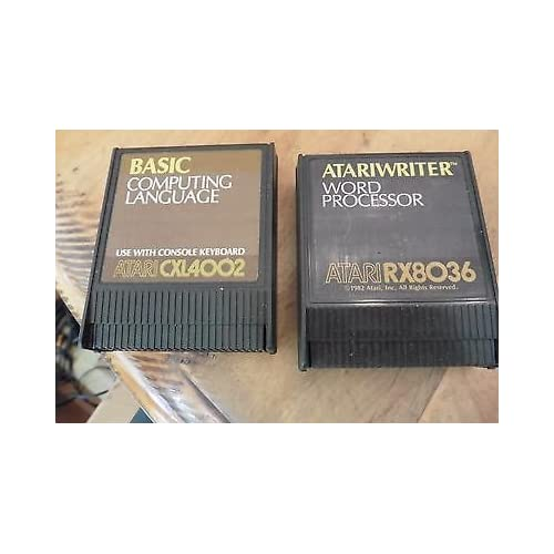 2 Vintage Cartridges Basic Computing Language Writer Word Processor For Atari