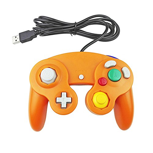 Image 1 of USB Wired Controller GameCube Gamepad Orange For PC MAC Linux
