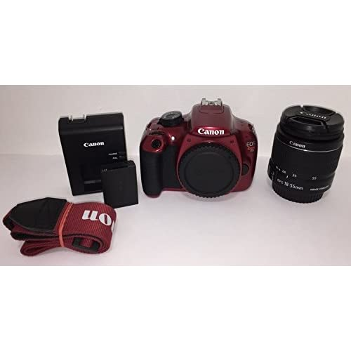 Image 0 of Canon EOS Rebel T5 Digital SLR Camera Kit With Ef-S 18-55MM Is II Lens Red JXH42