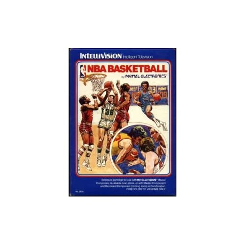 NBA Basketball For Intellivision With Manual And Case