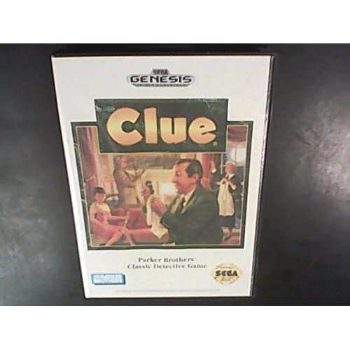 Clue For Sega Genesis Vintage Board Games