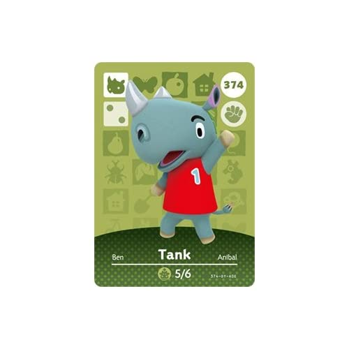 Tank Nintendo Animal Crossing Happy Home Designer Series 4 Amiibo Card
