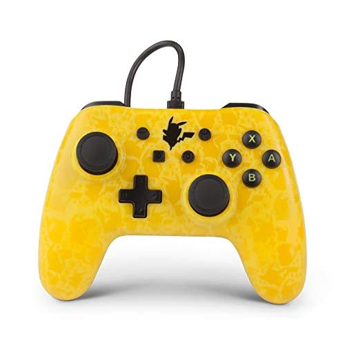 PowerA Pokemon Pikachu Silhouette Controller For Nintendo Switch Yellow