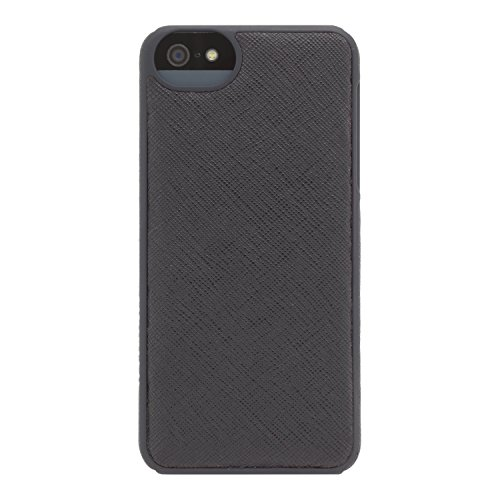 Adopted Leather Cell Phone Case For Apple iPhone 5 5S SE Saffiano Black Cover