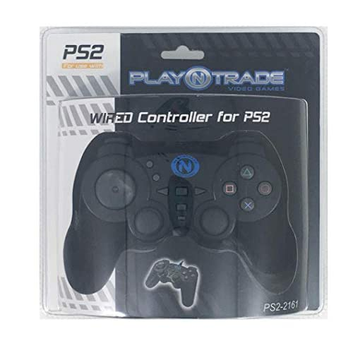 Image 0 of Wired Controller For PS2 For PlayStation 2  Black Gamepad PJS054