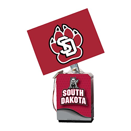 NCAA South Dakota Coyotes Adult Solar Buddy 6.5 X 4 Red